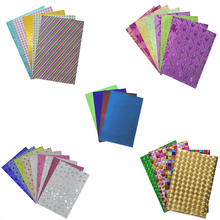 glitter scrapbooking sticker 10pcs/bag A4 sparkling sheets multicolor patterns adhesive sticker paper craft glitter film sticker