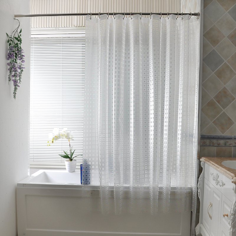 Aliexpress.com : Buy Kingart Transparent Home Bathroom Shower Curtain Hotel  Hook Or Double Pleated Waterproof Finished Shower Crutain From Reliable  Curtain ...