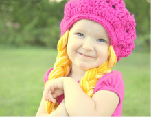 free shipping baby crochet beanie caps halloween costume cabbage patch hat beret with