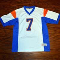MM MASMIG Alex Moran #7 Blue Mountain State Football Jersey Cosido Blanco S M L XL XXL XXXL 4XL