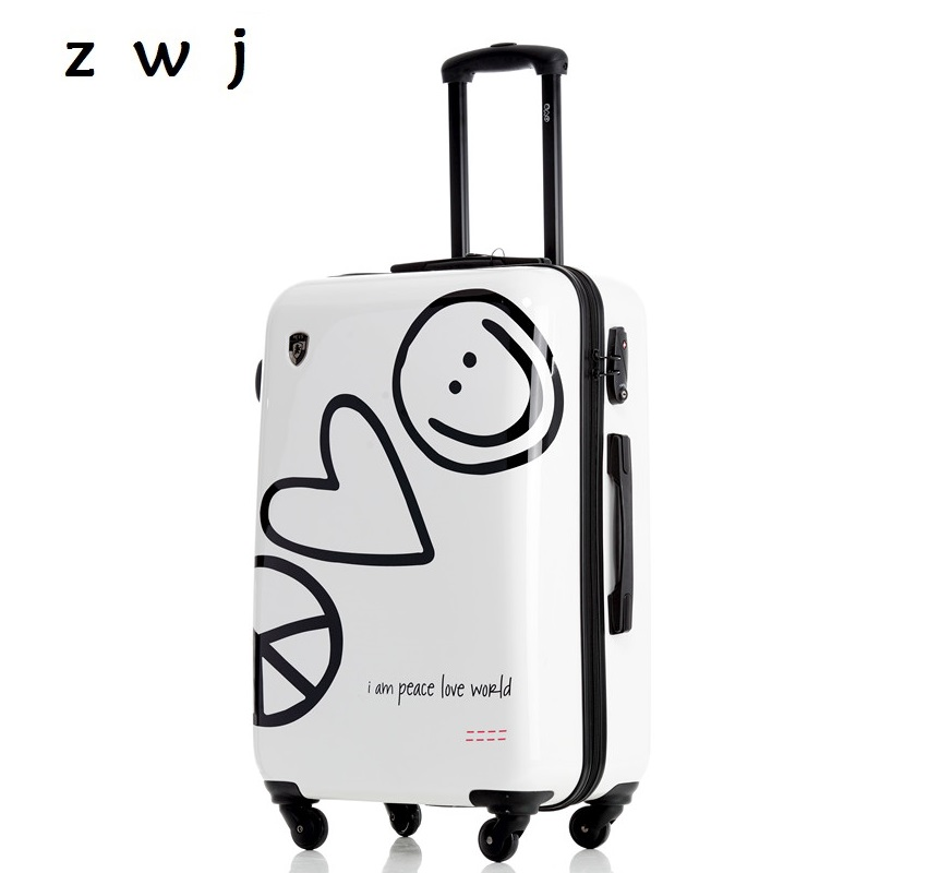 New fashion brand luggage trolley suitcase creative boarding password rolling luggageNew fashion brand luggage trolley suitcase creative boarding password rolling luggage