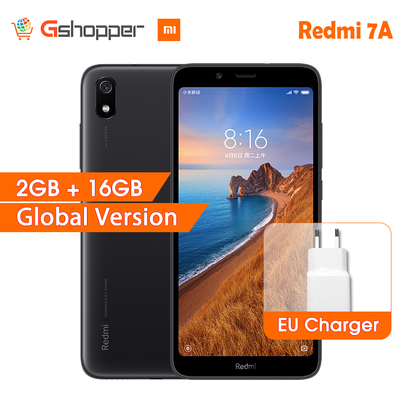 Global Version Xiaomi Redmi 7A 7 A 2GB 16GB Snapdargon 439 Octa core Mobile Phone 4000mAh
