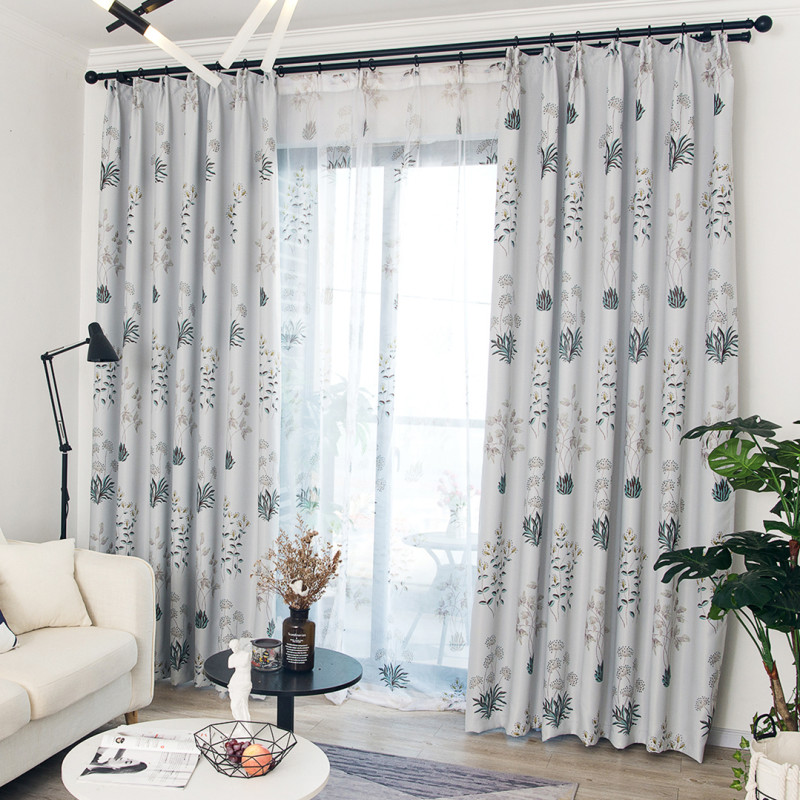 exciting living room curtains drapes | Blackout Curtain For Living Room Pastoral Bedroom Voile ...