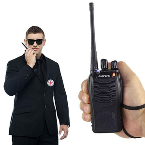 Image 5 - 2 قطعة لاسلكي تخاطب المهنية CB محطة راديو Baofeng جهاز الإرسال والاستقبال 5 واط VHF UHF المحمولة الصيد لحم الخنزير راديو