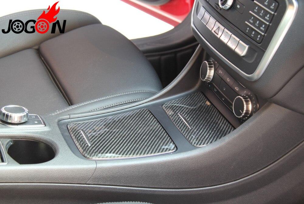 Couvercle de panneau de porte-cendrier de Cigarette de boîte de stockage de Console centrale de fibre de carbone réelle pour la classe W117 CLA180 CLA200 CLA250 de Benz CLA