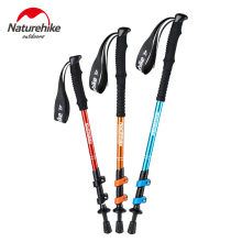 Naturehike Camping Trekking Walking stick hiking pole Ultralight Cane Telescopic Baton 2pcs/lot Nordic Poles Aluminum