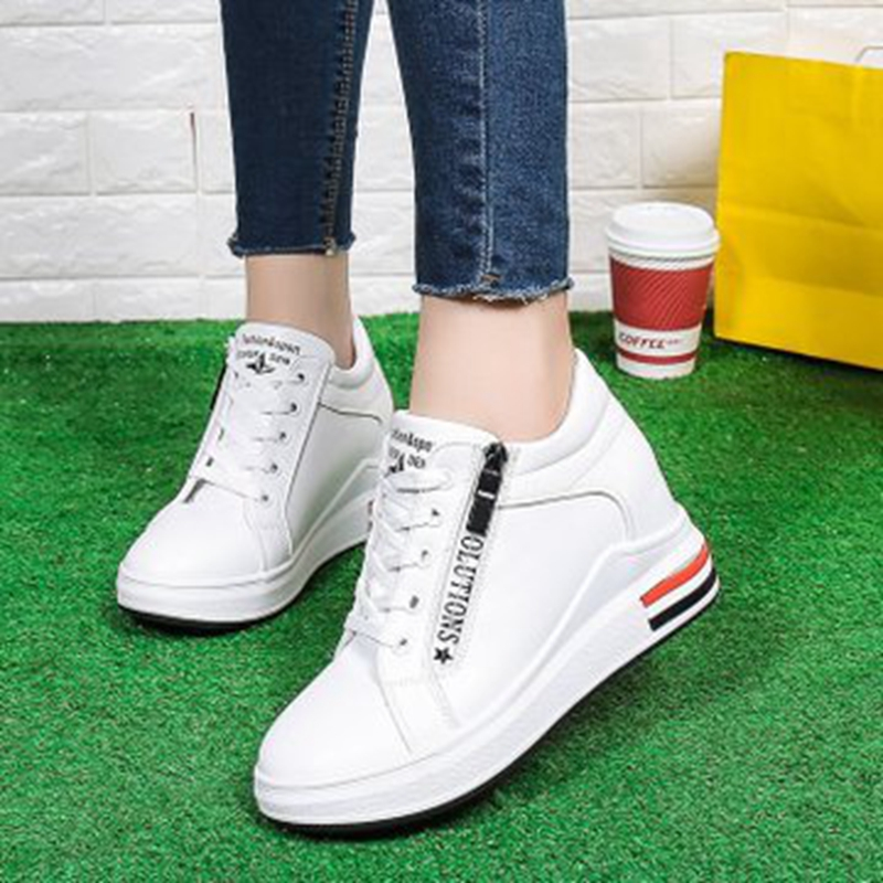 Small white shoes female 2019 spring new increase in the Korean version of the wild lace-up thick-soled student casual shoes womSmall white shoes female 2019 spring new increase in the Korean version of the wild lace-up thick-soled student casual shoes wom