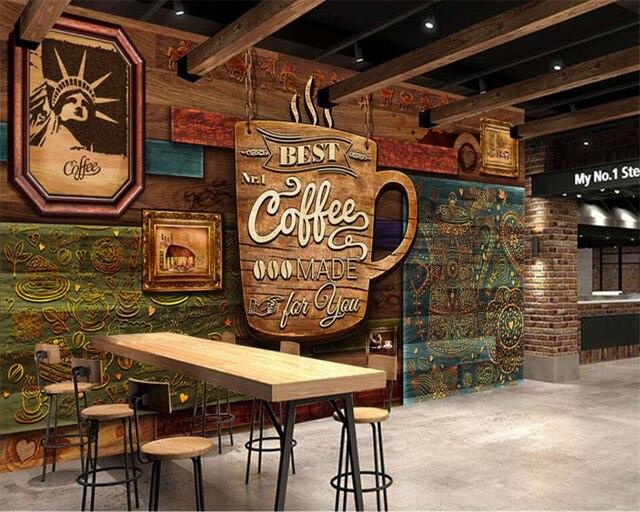 Beibehang ultra high definition handgeschilderde senior retro cafe