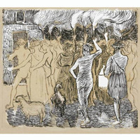 Handmade Daphnis et Chloe Reproduction Camille Pissarro Oil Painting On Canvas For Home Decor World Famous Paintings
