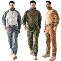 Excedente Militar tático Algodão Padrão Python Anti-desgaste Camuflagem Conjuntos de Treinamento Militar tatico Jacket + Pants 6 Cores