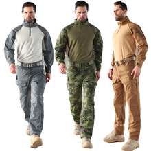 Tactical Military Surplus Cotton Python Pattern Anti-wear Camouflage Commando Training tatico Jacket + Pants 6 Colors Sets