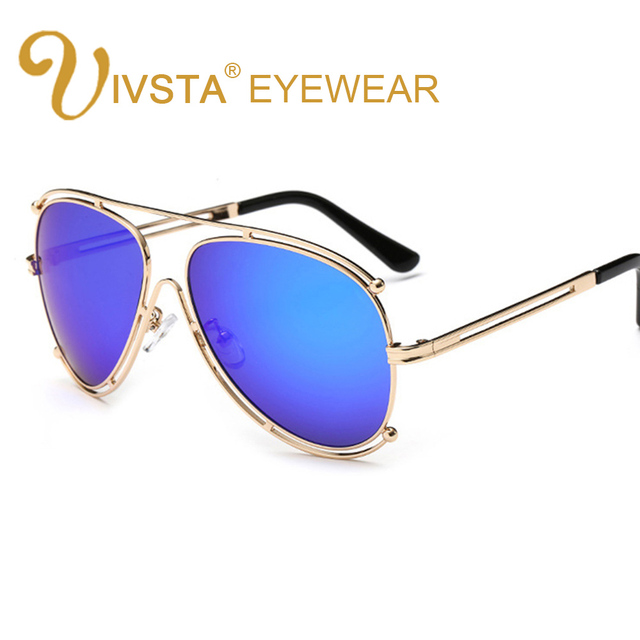 d46a774872a IVSTA 2016 Fashion Luxury Sunglasses Men Brand Designer Glasses driver  Pilot oculos de sol masculino Green Lense 6601 hollow