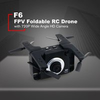 F6 720P Wide Angle Wifi HD Camera Cam FPV Foldable RC Drone Aircraft Toys with Gesture Selfie Headless Mode One Key Return Gift