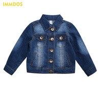 IMMDOS Girls Denim Jackets 2018 Fashion Spring Denim Jacket Long Sleeve Boys Outwear Children Clothing Baby