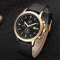 Nova Amuda Homens Moda Casual Assista Famosa Marca de Quartzo Relógio de Ouro relógio de Pulso Data de Exibição Montre reloj Relogio masculino