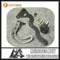 Motorcycle Windshield Stainless Steel Bracket Black Fit Fot BMW R1200GS LC ADV R1200