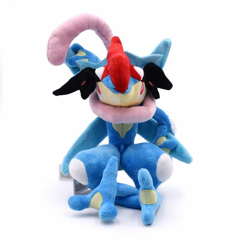 33cm bonito greninja pelúcia dos desenhos animados macio boneca de brinquedo quente anime japonês peluche brinquedos frete grátis bom presente para crianças