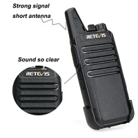 מכשיר הקשר 2pcs מיני מכשיר הקשר Retevis RT22 2W UHF 400-480MHz 16CH CTCSS / DCS TOT VOX סריקה לְהִשְׁתַכְשֵׁך שני הדרך רדיו Communicator A9121A (4)
