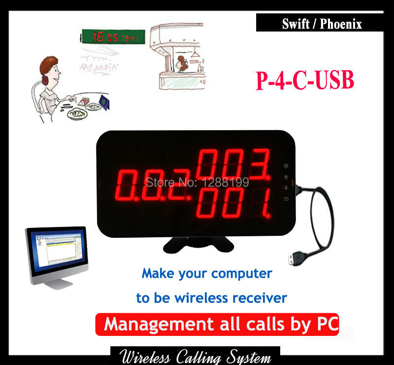 Wireless restaurant ordering system With USB link to Computer can work with Table Call Button wireless pager system 433 92mhz wireless restaurant table buzzer with monitor and watch receiver 3 display 42 call button