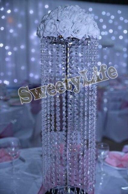10pcs LotsAcrylic Crystal Wedding Centerpiece 70CM Tall