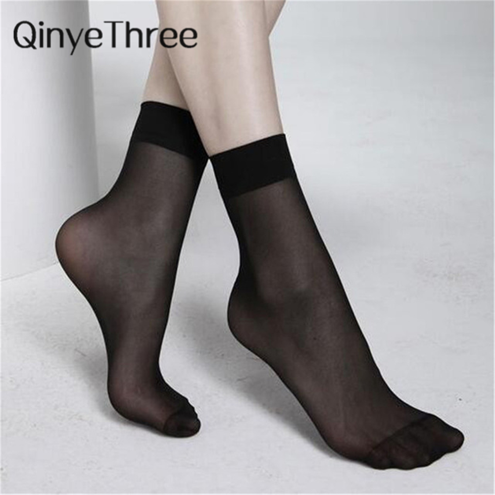 2018 Hot Sale! Newest High Quality Women Velvet   Socks   Female   Socks   Summer Thin Silk Transparent   Socks   5 Pair=10 Pieces 4 Colors