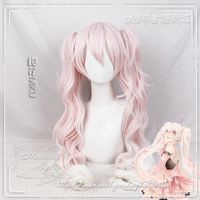 2018 Vocaloid Hatsune Miku Sakura Cosplay Wig Light Pink Long Curls Curly Synthetic Hair With Chip Removable Ponytails + Wig Cap