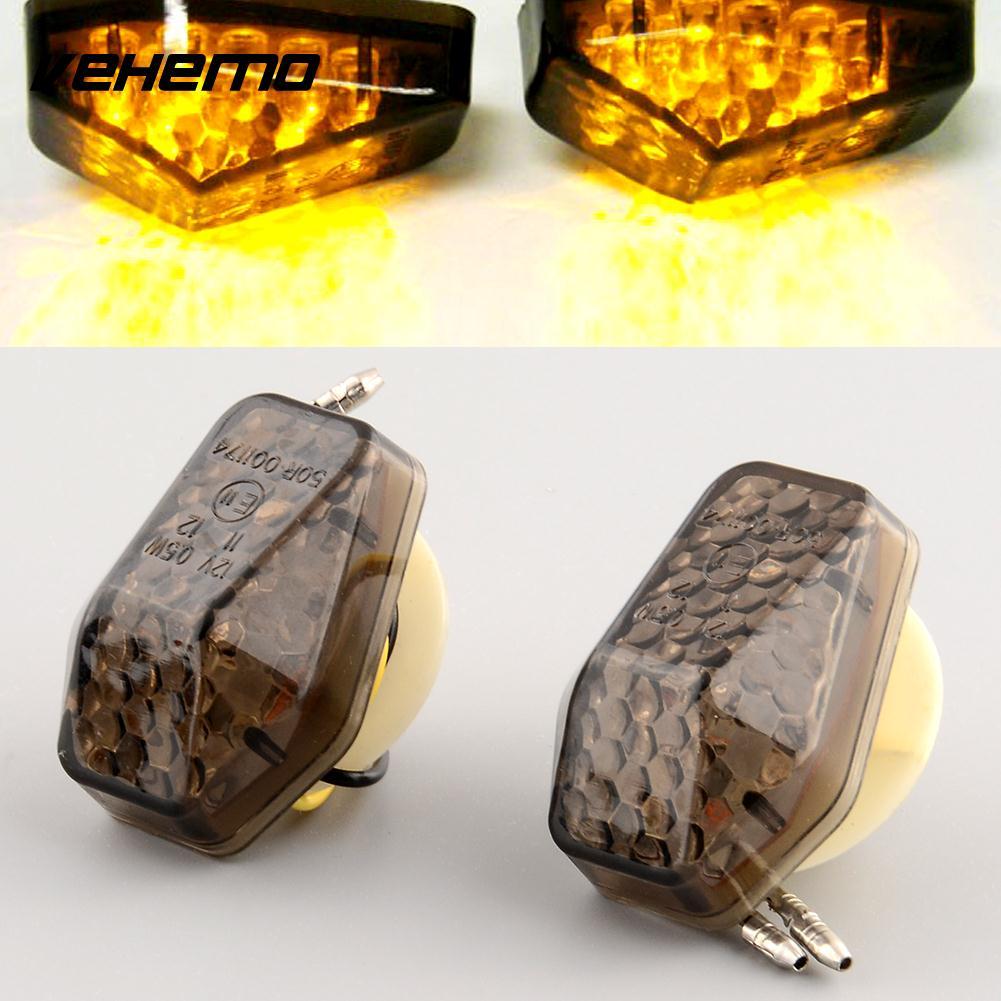 Vehemo 2pcs Flush Mount LED Turn Signal Fog Light Lamp Indicator For Motorcycle for Suzuki GSXR 600 1000 SV650 New