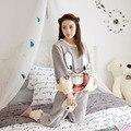 Donna Pigiama franela Pijamas Mujeres Pijamas de Invierno Para Las Mujeres Mujeres Del Invierno Pijama Pijama Feminino Pijama Mujer Primark