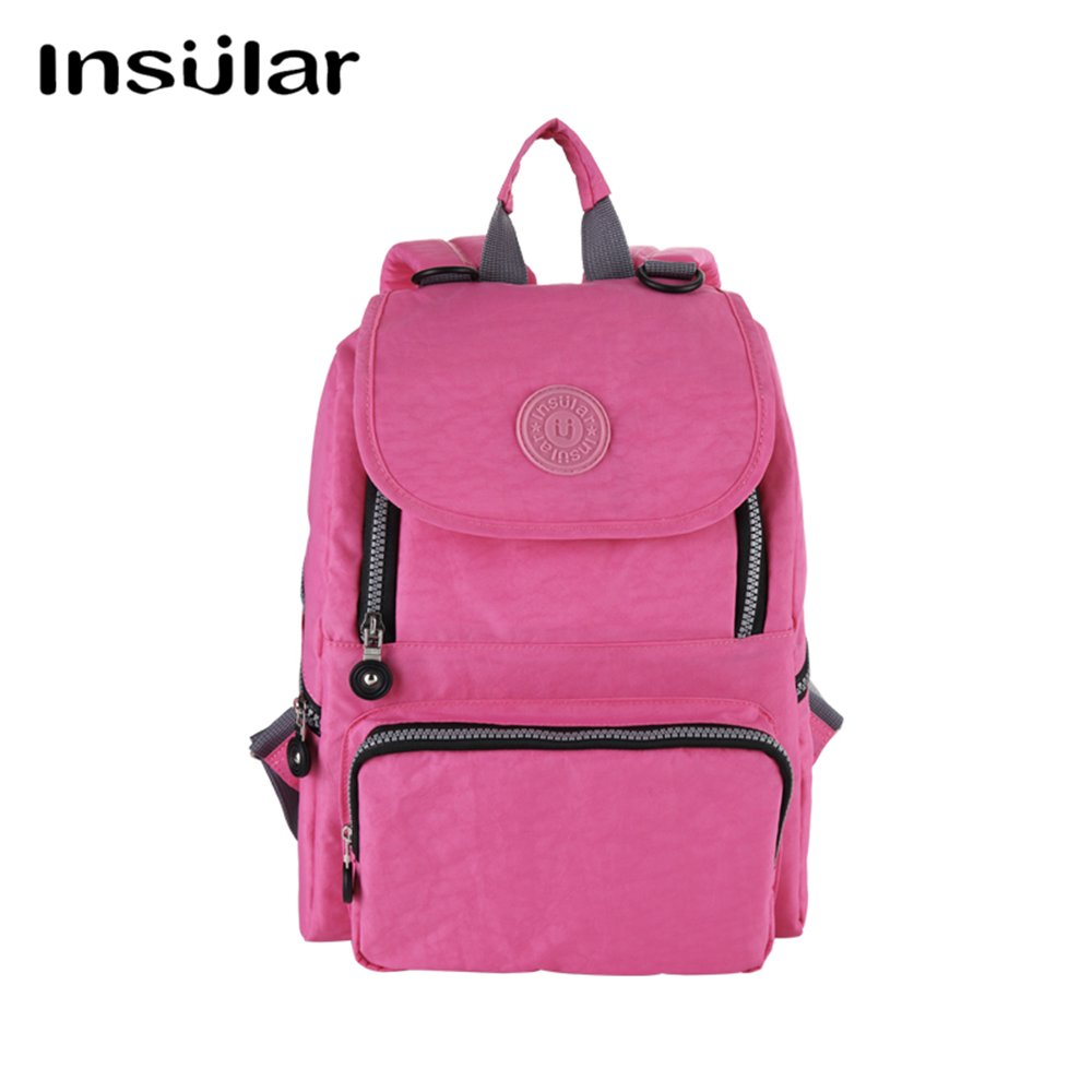 INSULAR Nappy Bag Backpack Portable Mother Bag Fashion Maternity Baby Bag Mother Baby Bag Multifunctional Large Capacity insular 2017 new arrival fashion bohemian style mother bag baby nappy bags large capacity maternity mummy diaper bag 5pcs set