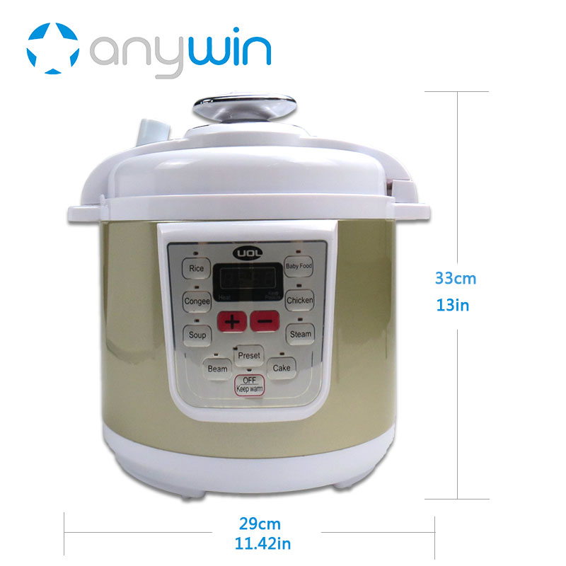 For Kenwood Multivarka Pressure Cooker 6L Instant Pot Heated Container Autoclave Multicookings Pressure Cooker Stainless Steel cukyi multi functional programmable pressure cooker rice cooker pressure slow cooking pot cooker 4 quart 900w stainless steel