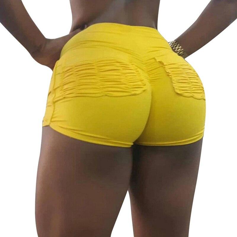 Litthing Fitness   Shorts   Women Fashion Sports   Shorts   High Waist Gym Jogging Women   Shorts   2019 Summer Workout   Shorts   Yellow Black