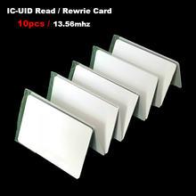 10 шт/лот 1356 МГц uid ic карта пустая записываемая сменная