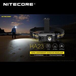 Image 3 - אולטרה קומפקטי NITECORE HA23 AA חיצוני פנס עם שני משלוח AA סוללות