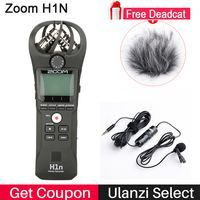 ZOOM H1 H1N Handy Recorder Digital Camera Audio Recorder Interview Recording Stereo Microphone for DSLR Boya BY M1 Microphone