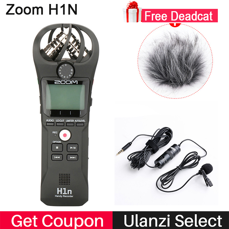 ZOOM H1 H1N Pratique Enregistreur Numérique Caméra Audio Enregistreur Interview Enregistrement Stéréo Microphone pour DSLR Boya BY-M1 Microphone