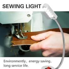 110V-220V LED Sewing Machine Ligh Working Gooseneck Lamp For Sewing Machine Adjustable Magnetic Base Industrial Lamp Lighting недорого
