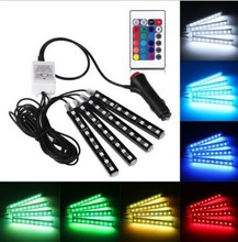 Free Shipping Car RGB LED DRL Strip Light LED Strip Lights Colors Car Interior Decorative Atmosphere Lamp With Remote Control 20cm free shipping rgb remote control colors change led light ball for club or garden vc b200