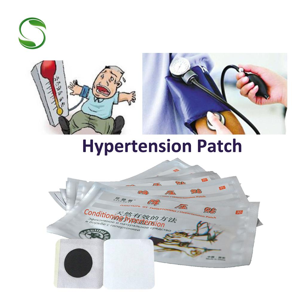 50pcs Chinese medicine herbal Hypertension patch treatment blood pressure balance plaster reduce lower pressure medical patch image