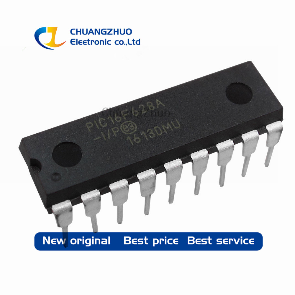 New Original PIC16F628A-I/P DIP-18 PIC16F628A PIC16F628 <font><b>16F628</b></font> Flash-Based, 8-Bit CMOS Microcontrollers image