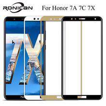Protective glass on for honor 7a 7c 7x pro tempered glass for huawei 7 a c x screen protector a7 c7 x7 phtrotection glas protect