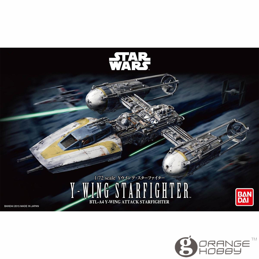 OHS Bandai Star War 1/72 Y-wing Starfighter Assembly Model Kits oh bandai star war vm 01 vehicle model mini x wing plastic model toys figure