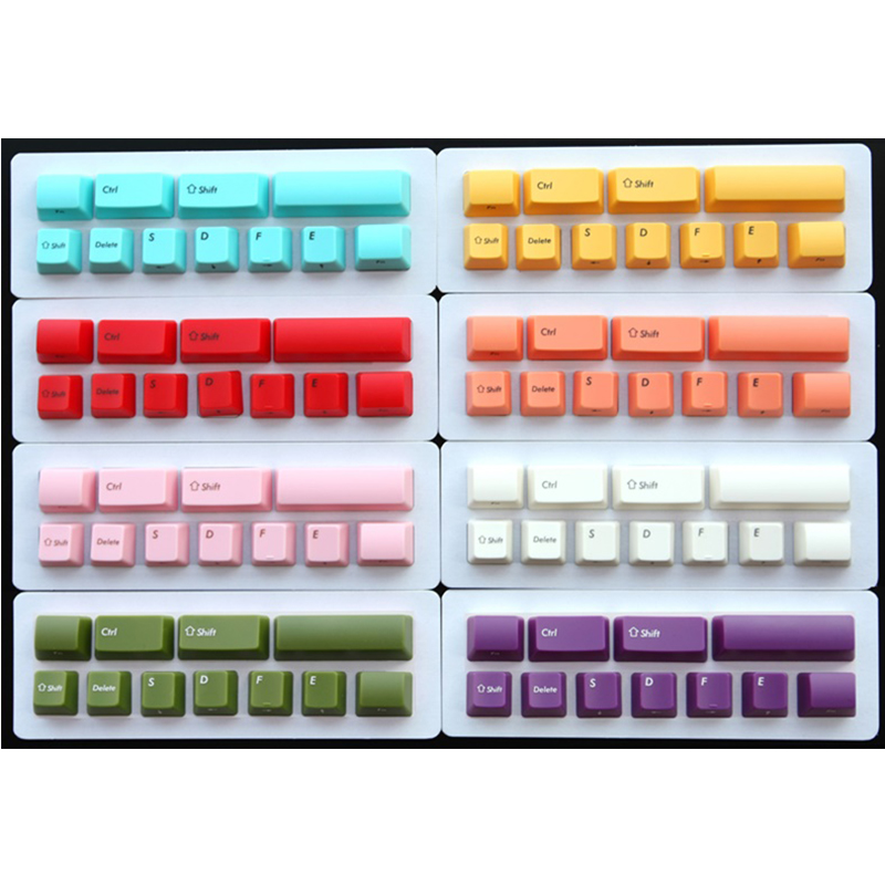 ABS Backlit Machanical Keyboard Keycap OEM Height For FILCO Minila Machanical Keyboard Keycap White Pink Orange(China)