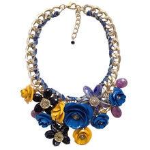 JShine Brand Fashion Crystal Flower Statement Necklace Pendants Chunky Chain Big Collar Choker Necklaces Pendants Maxi Women