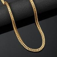 Trendy Gold Finish Jewlery Iced Out Hip Hop-männer Cuban Link Ketten Halskette Lange Bling Halskette Geschenk Freies Verschiffen