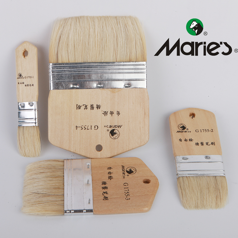 Watercolor Oil Painting Art Brush Wooden Gouache Brush Different Size Acrylic Paint Brushes Artist Painting Supplies G1755