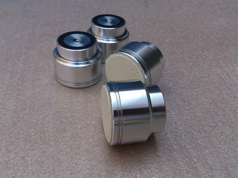 4 pièces/ensemble en alliage d'aluminium diamètre 48mm haut 40mm amplificateur audio pied amortisseur pieds suspension magnétique pied amortisseur