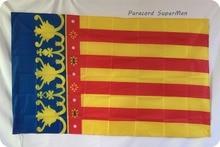 Free shipping 3ft x 5ft Hanging Flag Polyester VALENCIA Flag Banner 150x90cm for Celebration big flag