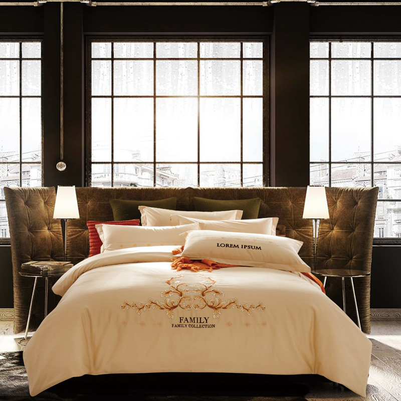 Wazir Luxury Cotton Embroidery Bedding Set High Quality Duvet Cover Set(Without Comforter) Bed Cover/Sheet /Pillowcase Bed Linen