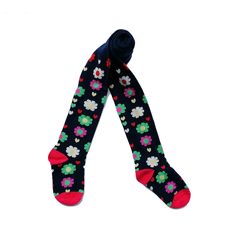 New Spring and Autumn Cotton Baby Kids Girls Knee High Socks tights baby girl pantyhose flower tights leggigns