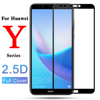 Protective glass on the for huawei y9 2018 y5 lite safety 5y huwai huavei 9y 9 5 Y 2019 y92018 y92019 Screen Protector tempered image